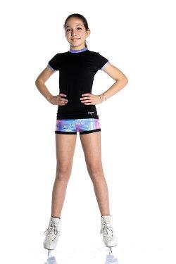 completo t-shirt e shorts per pattinaggio