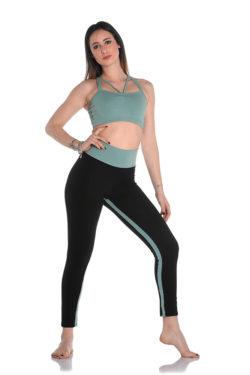 leggings with inner leg insert for dance, yoga and off-ice practice