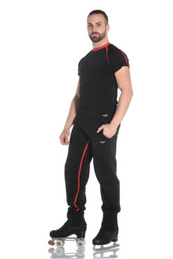 Comfortable sports pants with fleece interior for light thermal protection.