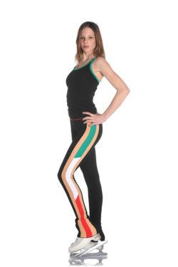 pantalone termico per pattinaggio su ghiaccio tricolore