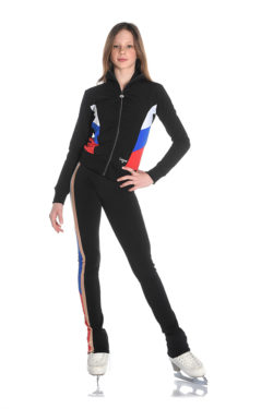 Ice skating jacket and pants with russian flag