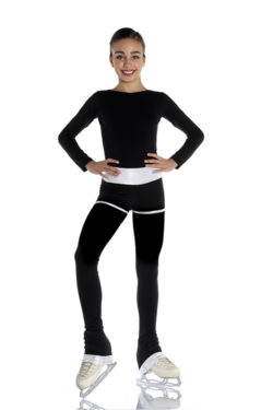 thermal pants with silver inserts for figure skaters