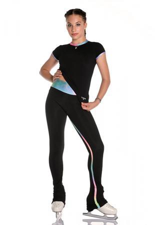 pantalone Crystal inserto verticale arcobaleno