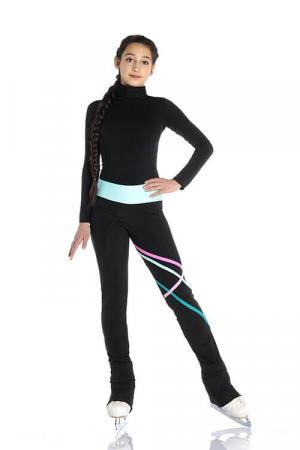 pantalone termico da pattinaggio con profili colorati