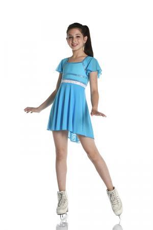 abito da pattinaggio azzurro da bambina