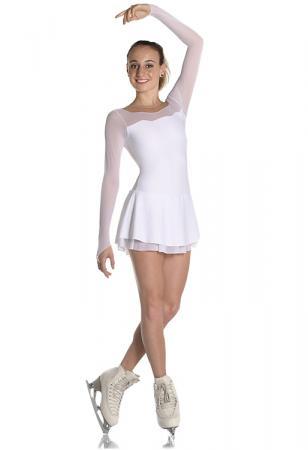 vestito da gara per pattinaggio bianco